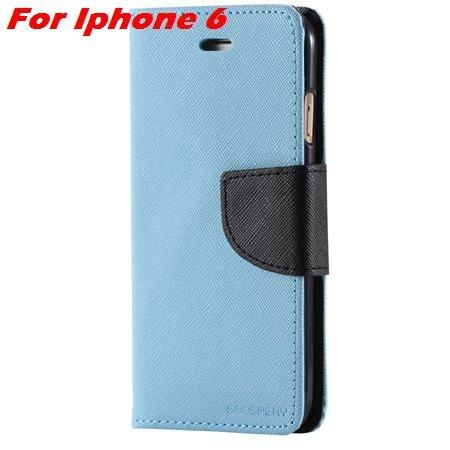New Retro Flip Leather Case For Iphone 6 Plus & Iphone 6 Flip Case 2051510402-2-Sky Blue For Iphone6