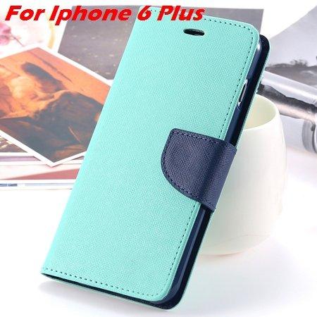 New Retro Flip Leather Case For Iphone 6 Plus & Iphone 6 Flip Case 2051510402-19-Mint For I6 Plus