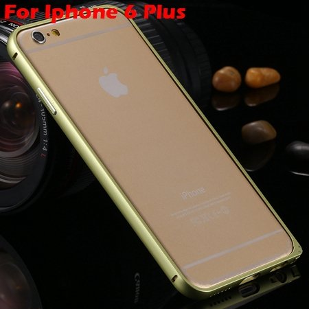 Ultra Thin Aluminum Bumper Luxury Frame Metal Case For Iphone 6 Pl 32214515559-10-Yellow For I6 Plus