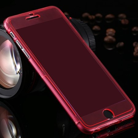 For Iphone6 5.5 Case Flexible Durable Transparent Clear Case For I 2053012130-4-Red