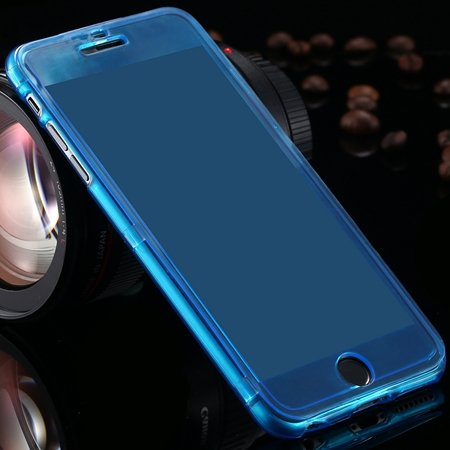 For Iphone6 5.5 Case Flexible Durable Transparent Clear Case For I 2053012130-5-Blue