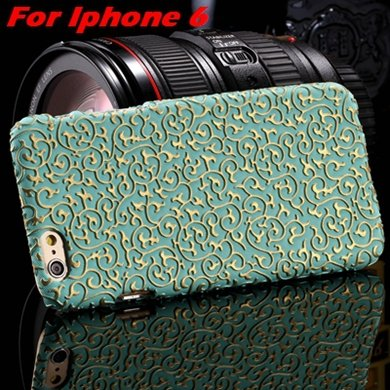 2015 Gold Luxury Palace 3D Flower Pu Leather Case For Iphone 6 /Ip 32258106290-10-Green For Iphone 6