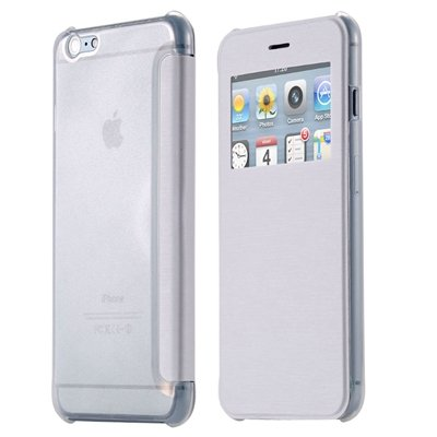 Original Smart Clear Open Window Pu Leather Case For Iphone 6 Plus 32256421588-2-White