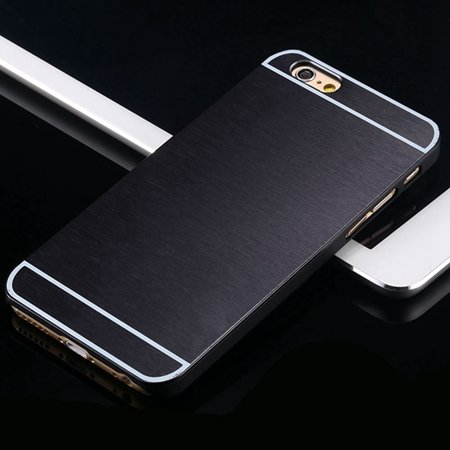 Hot Luxury Brand Brush Aluminum Metal Case For Iphon 32226437912-1-Black