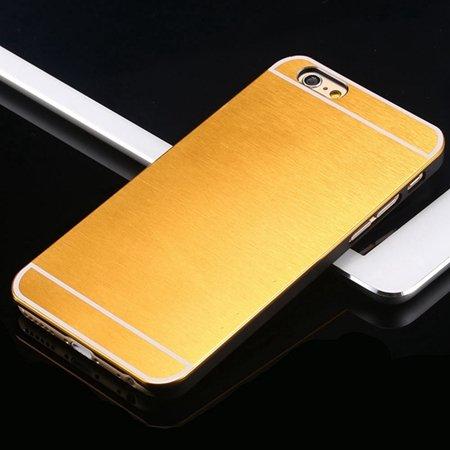 Hot Luxury Brand Brush Aluminum Metal Case For Iphon 32226437912-7-Yellow