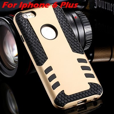 Luxury Rocket High Quality Pc+Tpu Hybrid Hard Case For Iphone 6 Pl 32255559642-9-Gold  For I6 Plus