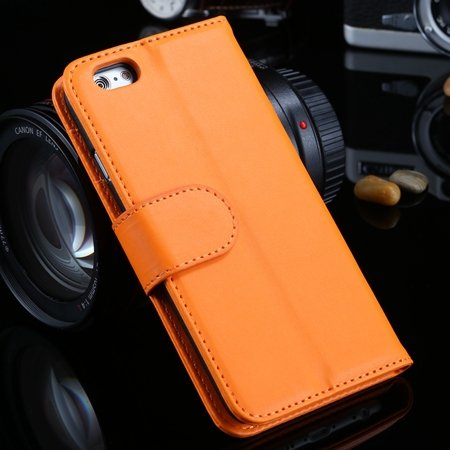 For Iphone 6 Plus Wallet Case Luxury Flip Pu Leather Case For Ipho 2055768856-2-Orange