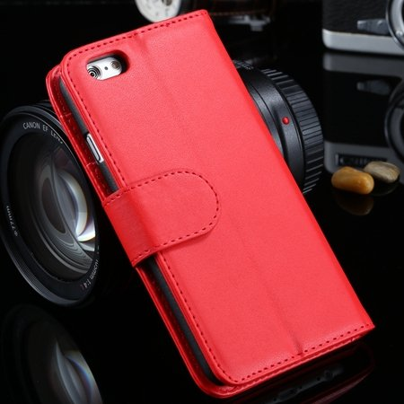 For Iphone 6 Plus Wallet Case Luxury Flip Pu Leather Case For Ipho 2055768856-4-Red