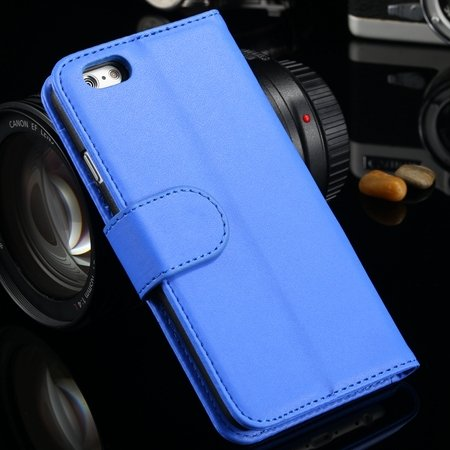 For Iphone 6 Plus Wallet Case Luxury Flip Pu Leather Case For Ipho 2055768856-5-Blue
