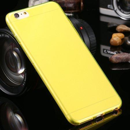 2015 Retro Cute 0.3Mm Transparent Clear Soft Tpu Cas 2026650089-2-Yellow For I6 Plus