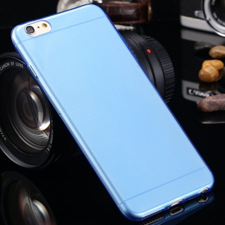 2015 Retro Cute 0.3Mm Transparent Clear Soft Tpu Cas 2026650089-4-Blue For I6 Plus