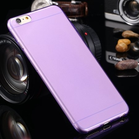 2015 Retro Cute 0.3Mm Transparent Clear Soft Tpu Cas 2026650089-10-Purple For I6 Plus