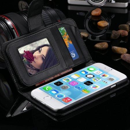 Retro Business Men Fold Wallet Pu Leather Case For Iphone 6 Plus 5 32266957194-1-Black