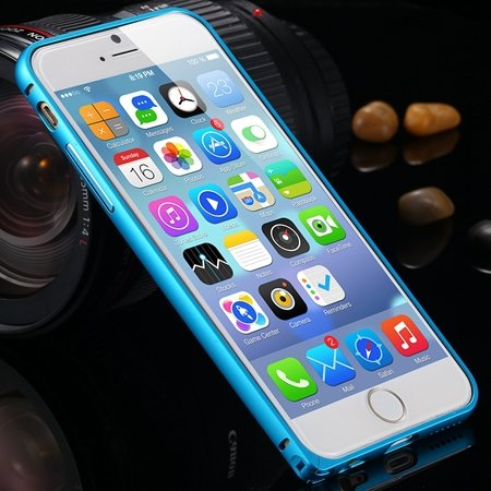 Gold Retro Ultra Thin Deluxe Frame Phone Case For Iphone 6 Plus 5. 32213512508-3-Blue