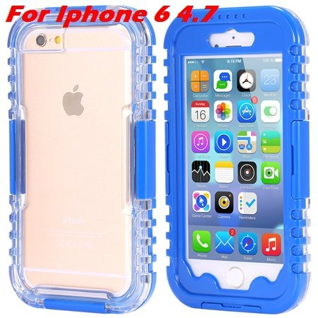 For Iphone 6 Plus Waterproof Case Hot Hard Pc + Soft Silicone Hybi 32276690163-2-Blue For Iphone 6