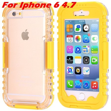 For Iphone 6 Plus Waterproof Case Hot Hard Pc + Soft Silicone Hybi 32276690163-5-Yellow For Iphone 6