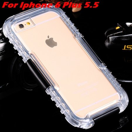 For Iphone 6 Plus Waterproof Case Hot Hard Pc + Soft Silicone Hybi 32276690163-7-Black For I6 Plus