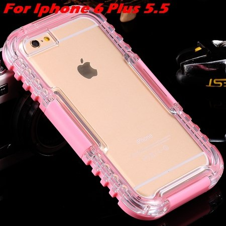 For Iphone 6 Plus Waterproof Case Hot Hard Pc + Soft Silicone Hybi 32276690163-9-Pink For I6 Plus