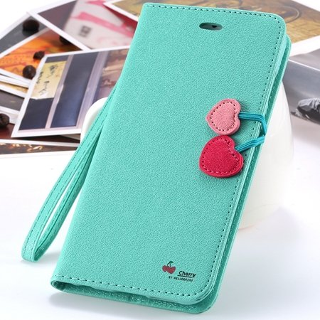 New Arrival Cherry Luxury Leather Case For Iphone 6 Plus Flip Stan 2054471028-4-Mint
