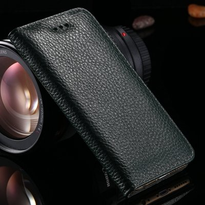 For Iphone 6 Plus Case Luxury Vintage Lychee Pattern Pu Leather Ca 32259342020-1-Black
