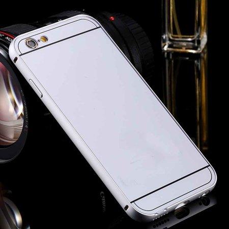 New Arrival Gold Metal Frame + Acrylic Hard Back Hybrid Case For I 32290073692-2-Sliver