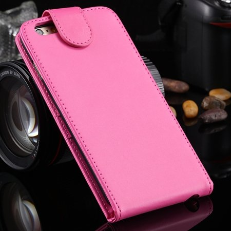 New Arrival Retro Pink Pu Leather Vertical Flip Case For Iphone 6  2027538805-3-Red