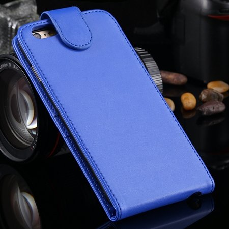New Arrival Retro Pink Pu Leather Vertical Flip Case For Iphone 6  2027538805-4-Blue