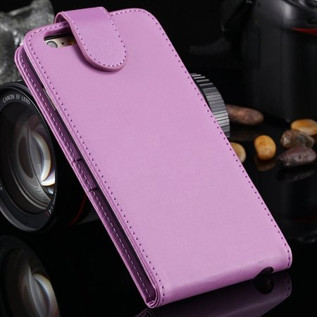 New Arrival Retro Pink Pu Leather Vertical Flip Case For Iphone 6  2027538805-7-Hot Pink