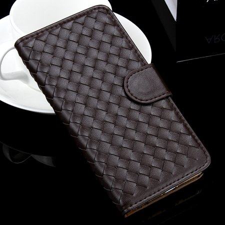 For Iphone 6 Plus Wallet Case Lovely Cute Pink Weave Flip Pu Leath 32271386653-5-Brown