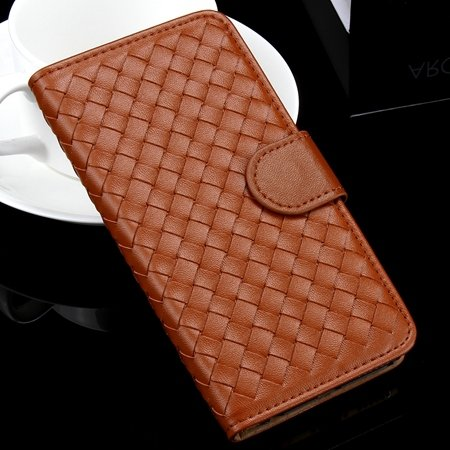 For Iphone 6 Plus Wallet Case Lovely Cute Pink Weave Flip Pu Leath 32271386653-6-Coffee