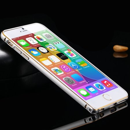 1Pcs/Lot Newest Double Color Metal Phone Cases For Iphone 6 Plus 5 32213408945-1-Gold and Sliver