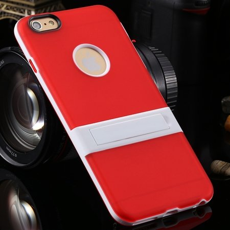 """Newest Protective Pricise Hole Tpu Case For Iphone 6 Plus 5.5"""""""" Tri 2046613690-4-Red"""