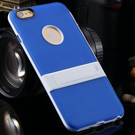 """Newest Protective Pricise Hole Tpu Case For Iphone 6 Plus 5.5"""""""" Tri 2046613690-5-Blue"""