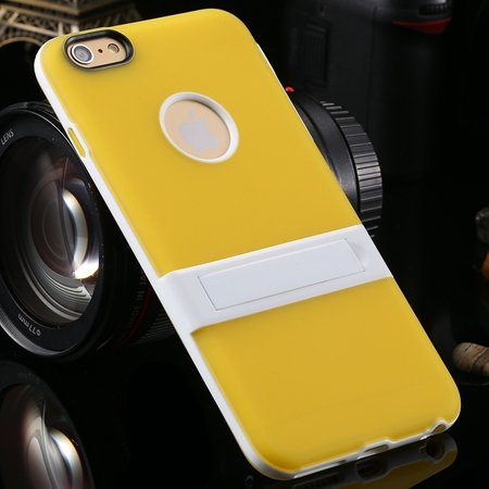 """Newest Protective Pricise Hole Tpu Case For Iphone 6 Plus 5.5"""""""" Tri 2046613690-6-Yellow"""