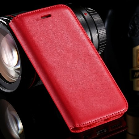Vintage Luxury Original Pu Leather Case For Iphone 6 Plus Flip Pho 32265514801-3-Red