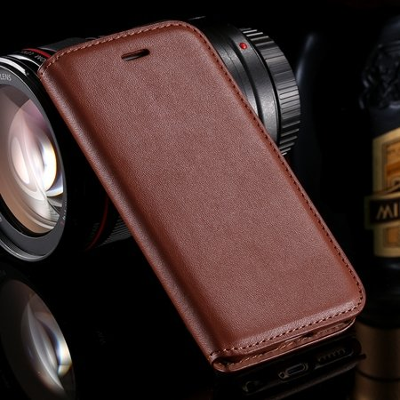 Vintage Luxury Original Pu Leather Case For Iphone 6 Plus Flip Pho 32265514801-5-Brown