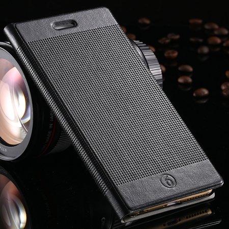Hot Popluar Retro Grid Pattern Pu Leather Case For Iphone 6 Plus 5 32225230280-1-Black