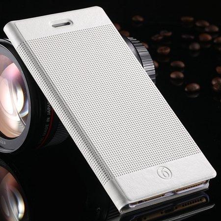 Hot Popluar Retro Grid Pattern Pu Leather Case For Iphone 6 Plus 5 32225230280-3-White