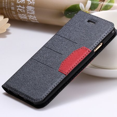 "Navy Blue Original Brand Pu Leather Case For Iphone 6 Plus 5.5"""" Fl 32255681496-3-Black"