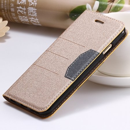"Navy Blue Original Brand Pu Leather Case For Iphone 6 Plus 5.5"""" Fl 32255681496-4-Gold"