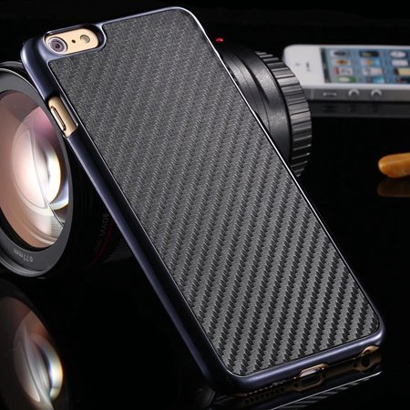 Brown Retro Ultra Thin Carbon Fiber Case For Iphone 6 Plus 5.5Inch 32222206032-1-Black