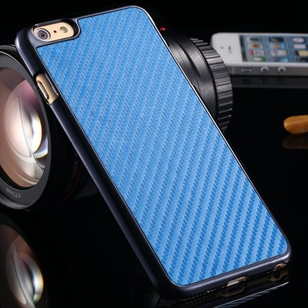 Brown Retro Ultra Thin Carbon Fiber Case For Iphone 6 Plus 5.5Inch 32222206032-4-Sky Blue