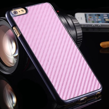 Brown Retro Ultra Thin Carbon Fiber Case For Iphone 6 Plus 5.5Inch 32222206032-6-Pink