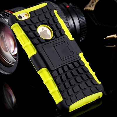 Luxury Top Quality Pc + Tpu Hybrid Kick-Satnd Armor Cover Case For 32295736622-6-Yellow