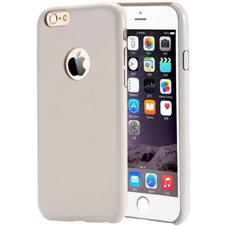 Gold Luxury Back Pu Leather Case For Iphone 6 Plus 5.5Inch Cell Ph 32271193158-3-Cream