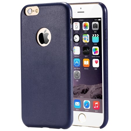 Gold Luxury Back Pu Leather Case For Iphone 6 Plus 5.5Inch Cell Ph 32271193158-6-Blue