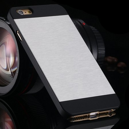 """Luxury Retro Aluminum Bursh Metal Case For Iphone 6 Plus 5.5"""""""" Cell 32270355739-1-Sliver"""