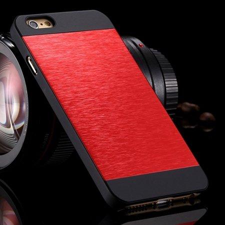 """Luxury Retro Aluminum Bursh Metal Case For Iphone 6 Plus 5.5"""""""" Cell 32270355739-5-Red"""