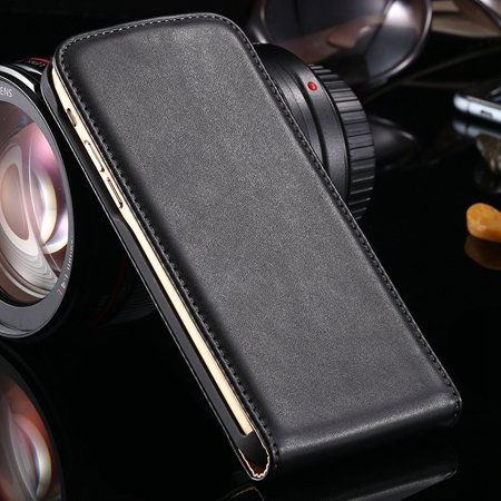 For Iphone 6 Plus Leather Case Gold Luxury Flip Pu Leather Case Fo 32264376386-1-Black