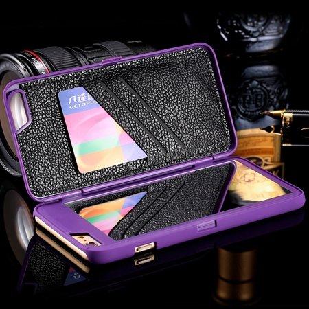2015 Fashion Lady Necessary 3D Water Pattern Flip Pu Leather Case  32278322685-3-Purple